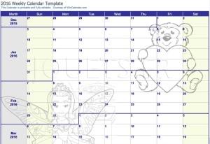 calendrier diy enfants